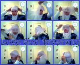 Three-layer niqab